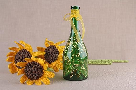 Decorativa botella de cristal