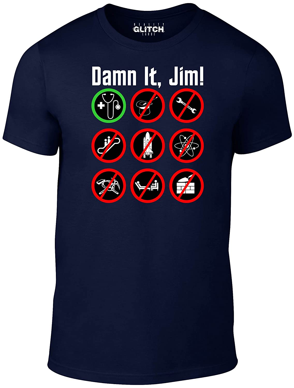 Reality Glitch Men's Damn It Jim T-Shirt