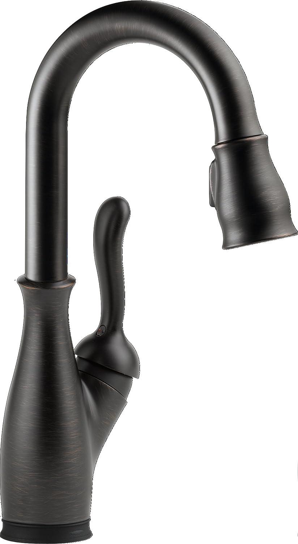 Delta Faucet 9678T-RB-DST Single Handle Pull-Down Bar/Prep Faucet Venetian Bronze