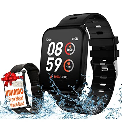 Smart Watch, Fitness Tracker Compatible for Android & iOS with Heart Rate & Blood Pressure & Sleep Monitor. Waterproof Activity Tracker with Step & ...