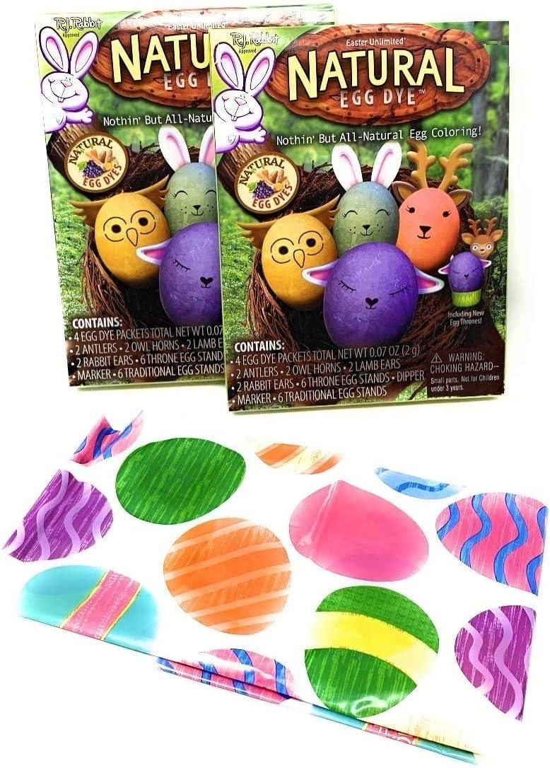 Natural Easter Egg Dye Kit 2pk - Childs Easter Apron - Safe Dye - Easter Coloring Eggs