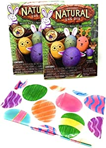 Natural Easter Egg Dye Kit 2pk - Childs Easter Apron - Safe Dye - Easter Coloring Eggs