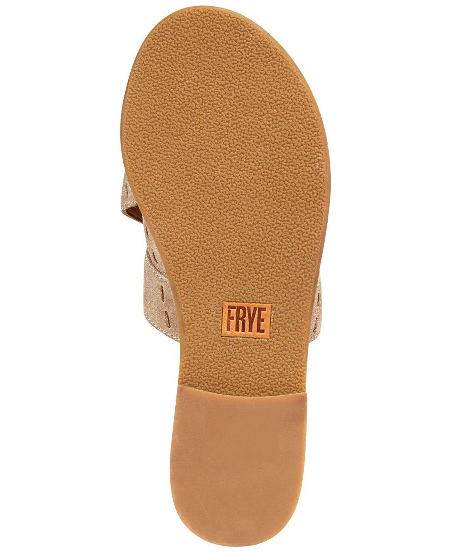 FRYE Womens Carla Criss Cross Open Toe Casual Slide Sandals, Ash, Size 6.5 by FRYE (Image #2)
