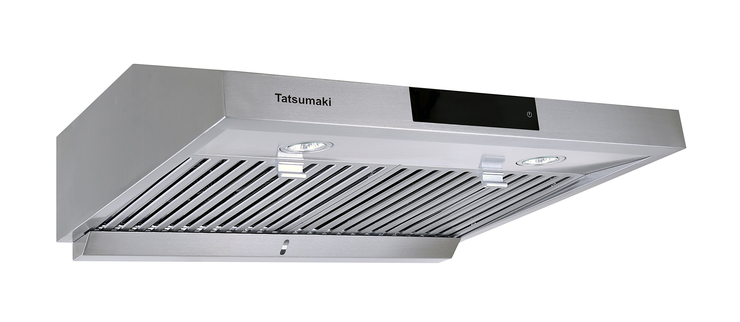 Tatsumaki 30'' TA-S18 Contemporary Design Range Hood w/ 860 CFM, Touch Screen, Baffle Filters