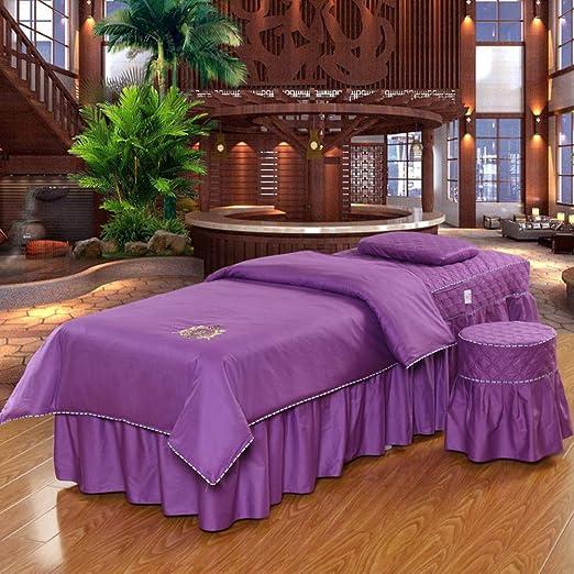 Color puro Algodón Belleza Cubierta de cama Juego de sábanas para ...