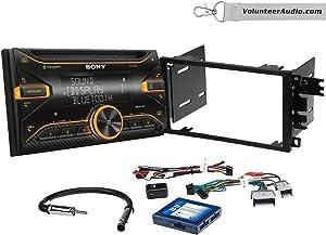 Sony WX-920BT Double Din Radio Install Kit With Sirius XM Ready, USB/AUX, CD Player Fits 2003-2005 Chevrolet Blazer, 2003-2006 Silverado, Suburban (Bose and Onstar)