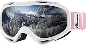 OutdoorMaster OTG Ski Goggles - Over Glasses Ski/Snowboard Goggles for Men, Women & Youth - 100% UV Protection