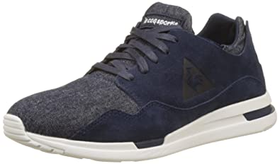 Unisex Adults LCS R Pure Denim Bass Trainers, Blue Le Coq Sportif