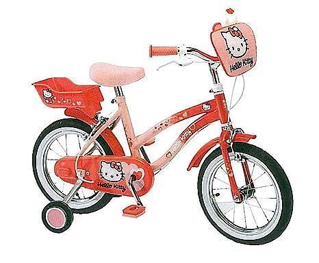 "Hello Kitty Bicicleta infantil niños (Ruedas 35,56 cm 14"", sillín ajustable"