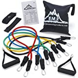 Black Mountain Resistance Band Set With Door Anchor, Ankle Strap, Exercise Chart & Resistance Band Carrying Case
