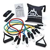Amazon Price History for:Black Mountain Products Resistance Band Set with Door Anchor, Ankle Strap, Exercise Chart, and Resistance Band Carrying Case