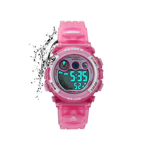 672c4e3d4fc Kids Sports Watches Children For Girls Boys Waterproof Military Dual  Display LED Kids Watch Pink