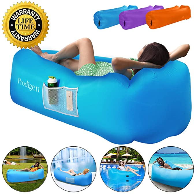 Prodigen Inflatable Lounger Chair, Air Sofa Inflatable Couch Outdoor Anti-Air Leaking Waterproof Portable Inflatable Hammock Air Couch Pool, Floor, Camping, Beach