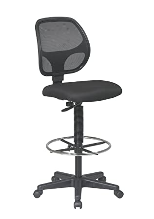 Office Star Deluxe Mesh Back Drafting Chair with 20 quot  Diameter Adjustable  Footring  Black FabricAmazon com  Office Star Deluxe Mesh Back Drafting Chair with 20   of Office Star Height Adjustable Drafting Chair With Footring