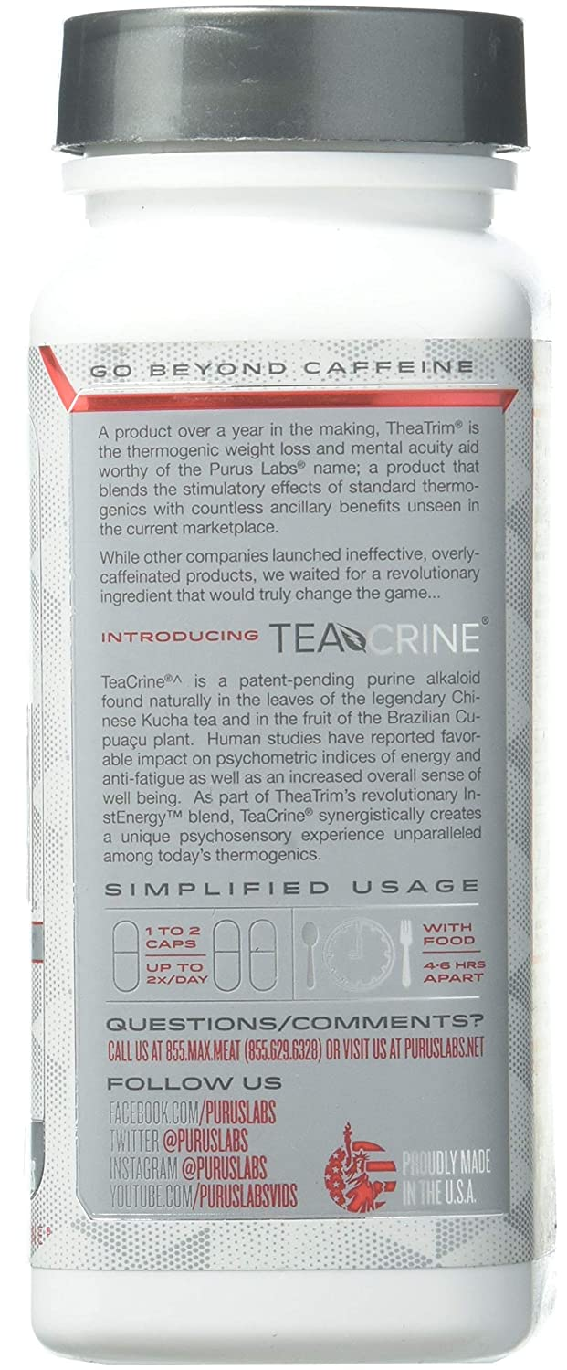 Purus Labs Theatrim | Advanced Thermolipolytic and Focal Catalyst, Teacrine, Same, B12, Infinergy,...