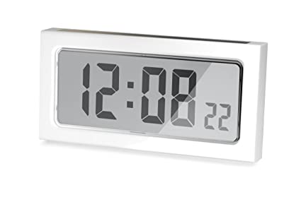 ADDEX AR950/W - Reloj de pared digital solar, color blanco