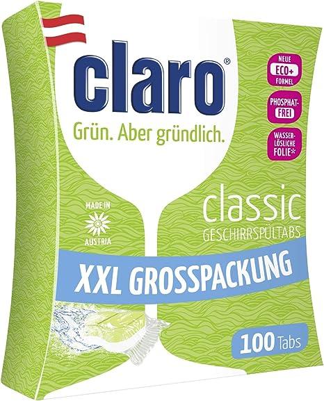 CLARO Classic XXL - 100 Pastillas Ecológicas Sin Fosfatos Para ...