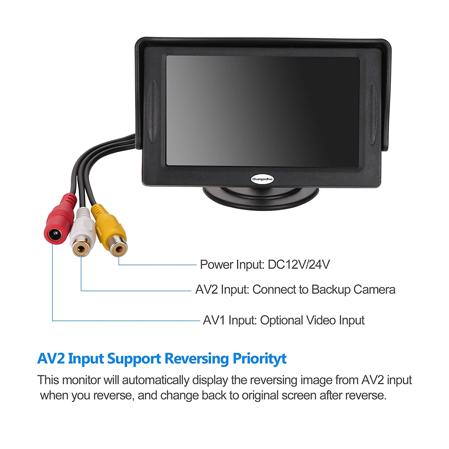 Backup Camera And Monitor Kit For Caruniversal Wired Wireless Wiring Up Waterproof Rear View License Plate Car 43 Lcd