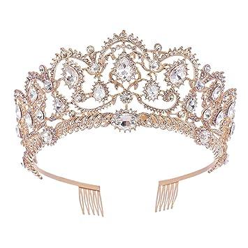 Amazon.com: SNOWH Tiaras de diamantes de imitación para ...