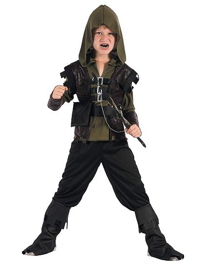 Generique - Traje de Cazador Arquero niño S 4-6 años (110-120 cm ...