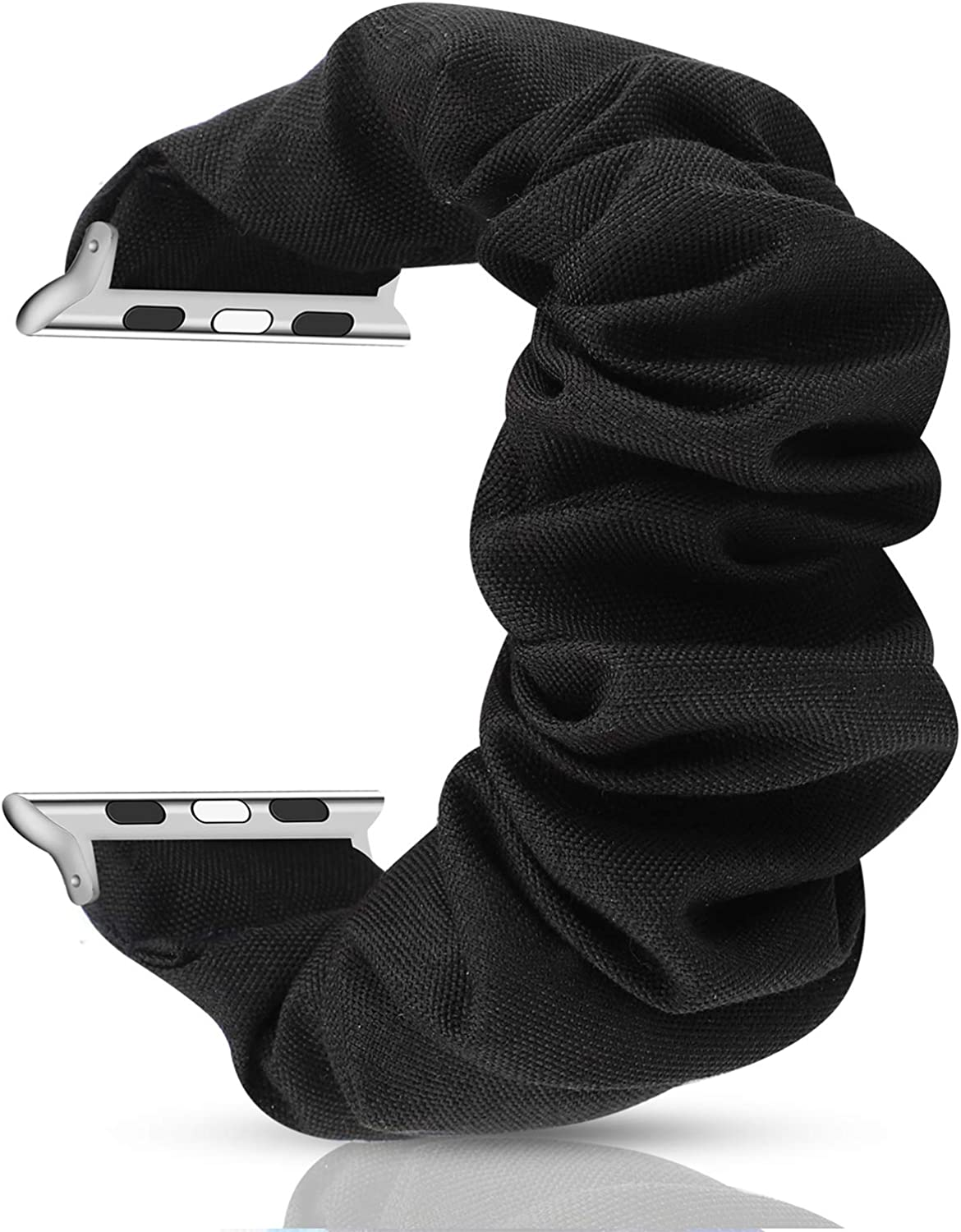 PENKEY Woman Scrunchie Elastic Wristband Compatible for Apple Watch Band 38mm 40mm,Soft and Fashion Pattern Printed Replacement Wristbands for iWatch Series 1 2 3 4 5 …