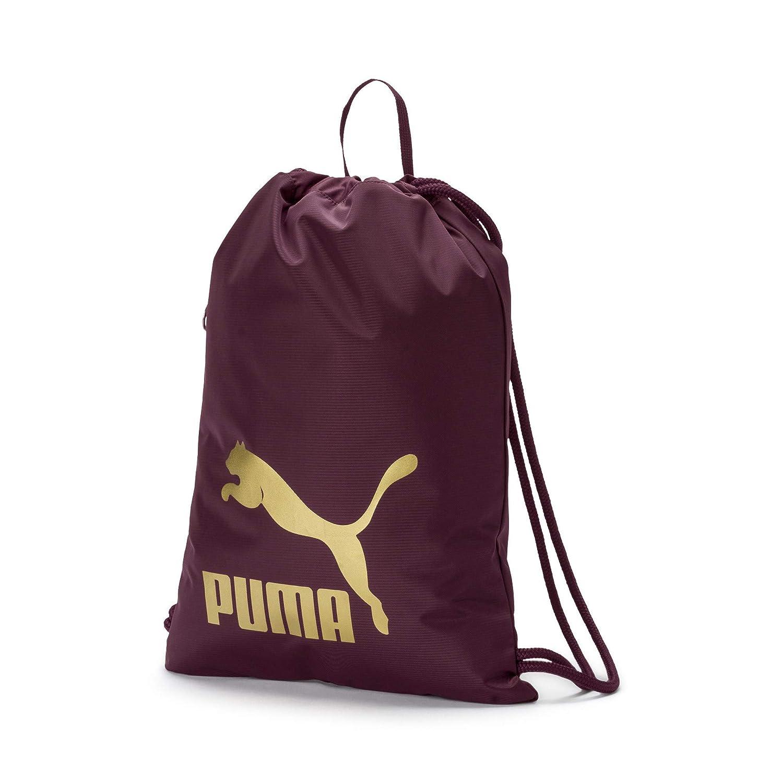 Puma Originals Gym Saco Turn Bolsa, Color Fig-Gold, tamaño Talla única 74812