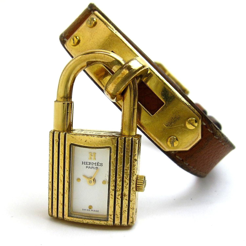 [エルメス]Hermes 腕時計 ケリーウオッチ ゴールド ブラウン 白文字盤 レディース 中古 B06W2HNDDN