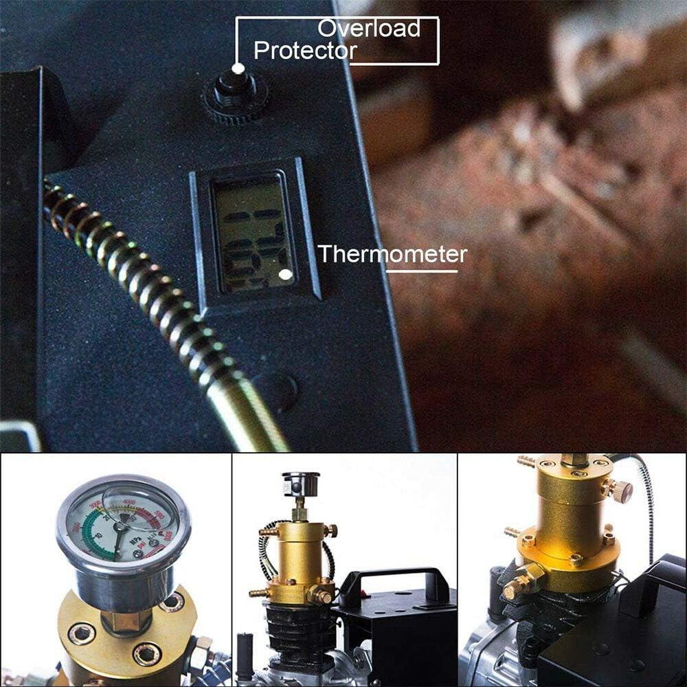 Pompe /à air /à haute pression 300 bars 4500PSI Yunrux 30 MPA Pompe /à compresseur /électrique pression Compresseur dair haute pression Fit pour v/érification haute pression automobile Pistolet