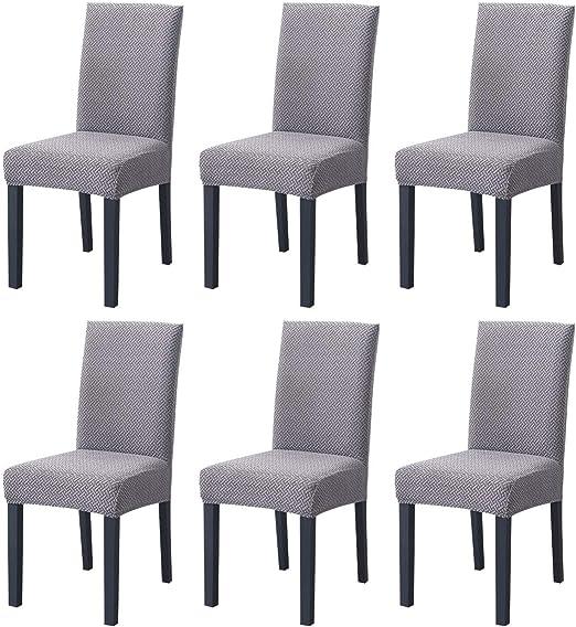 Fundas de Silla de Comedor Elásticas y Modernas,Hengweiuk Fundas para sillas Pack de 4 6 Fundas sillas Comedor Lavable Extraíble Comedor Extraíble Funda,Duradera Modern Decor Restaurante: Amazon.es: Hogar
