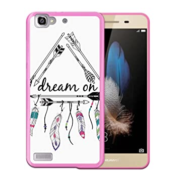 WoowCase Funda Huawei P8 Lite Smart, [Huawei P8 Lite Smart ] Funda Silicona Gel Flexible Dream On, Carcasa Case TPU Silicona - Rosa