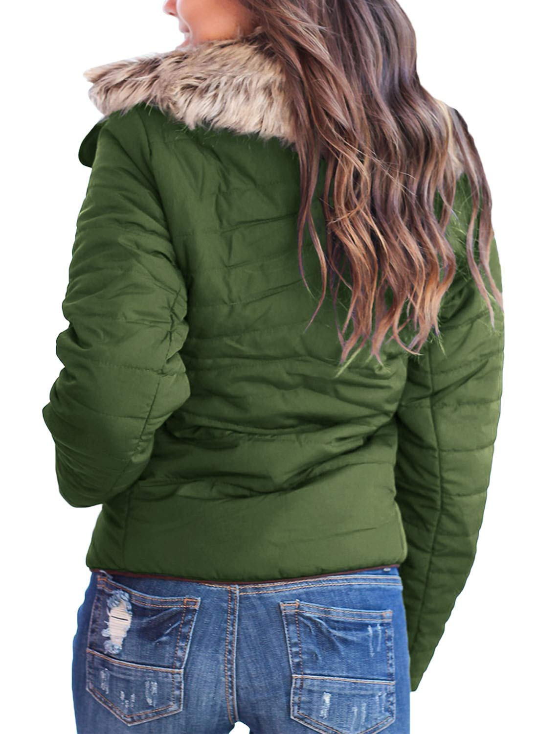 Women's Casual Quilted Parka Jacket Puffer Coat 4