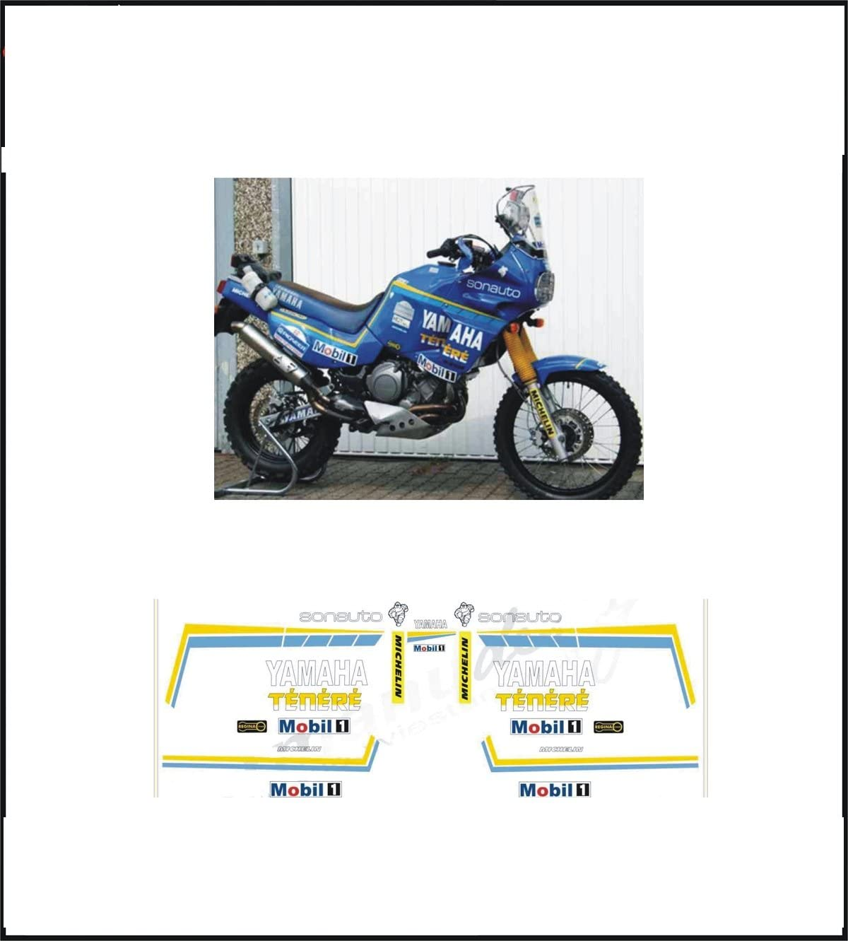 Kit Adesivi Decal Stikers Yamaha Xtz 750 Supertenere Replica Dakar Sonauto Ability To Customize The Colors Auto