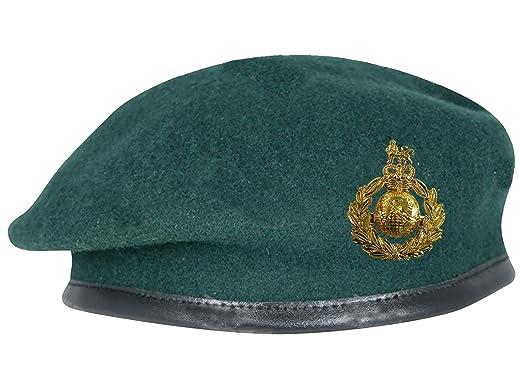 4d791e93da284 Royal Marines Commando Green Beret + Official Anodised Cap Badge (All  Sizes  Amazon.co.uk  Clothing