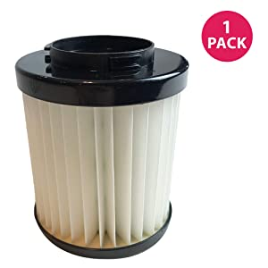 Crucial Vacuum Replacement Vacuum Filter-Compatible with Dirt Devil Part # 1LV1110000 - Dirt Devil Style F22 & F26 Filter Models For Vacs - Use Vac Parts For Home, Office - Washable, Reusable (1 Pack)