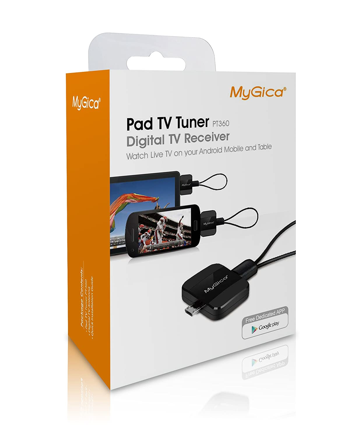 Mygica Pt360 Dvb-t2 Android Tv Tuner Pad Tv Receive: Amazon