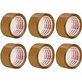 Packatape® - 6 rouleaux de ruban d'emballage marron de 48 MM x 66 M pour colis et boîtes de bande de conditionnement. Ce paquet de 6 rouleaux d'emballagemarron et lourdfournit une forte, sécurisée et gluantescelle pour vos boîtes. La fiabilité est assurée.