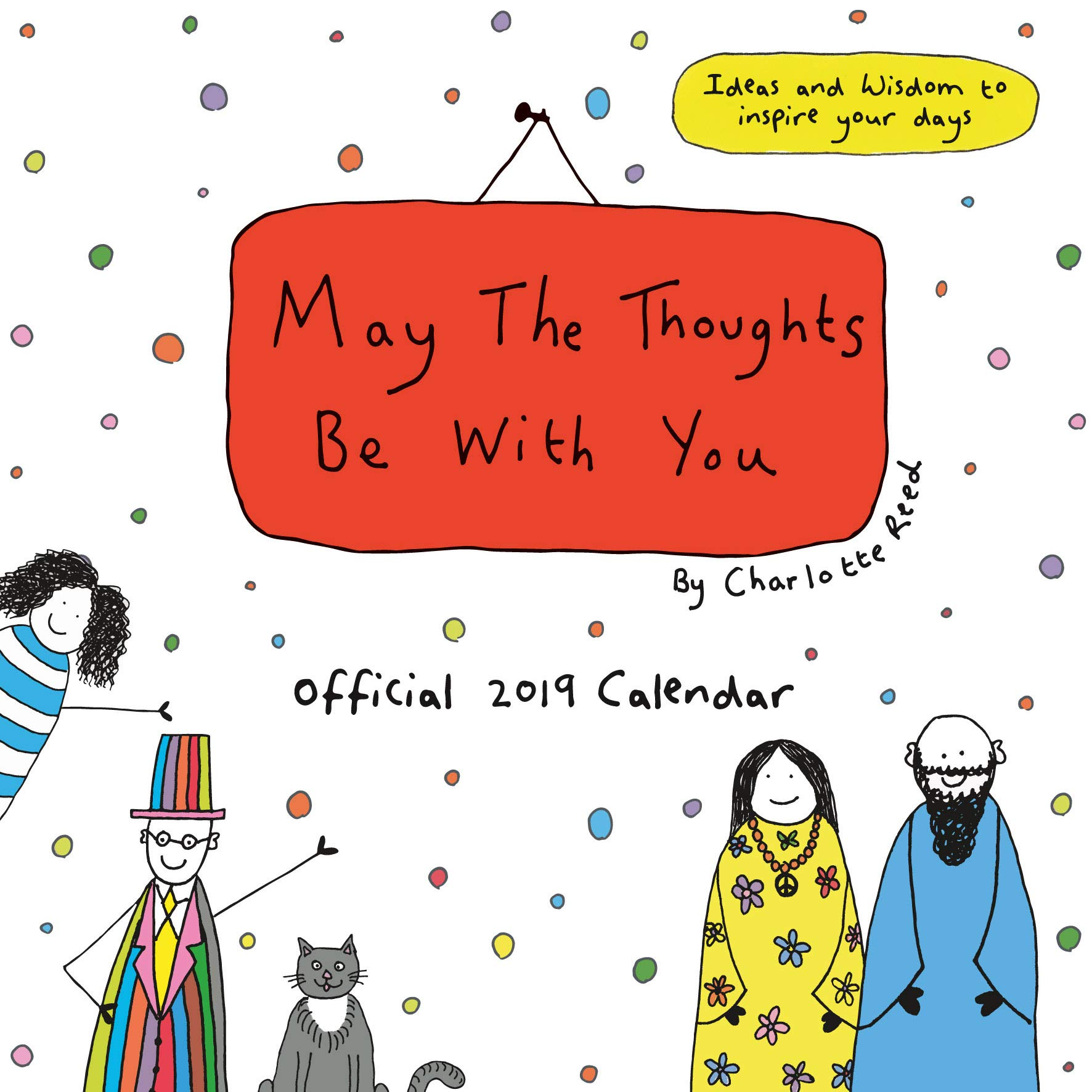 May The Thoughts Be With You Official 2019 Calendar Square Wall Calendar  NEW