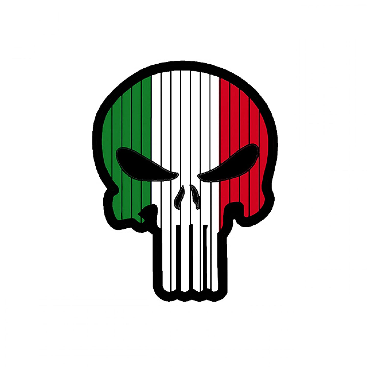 TaiwanGun Flag Punisher Skull Italy Italia PVC Patch
