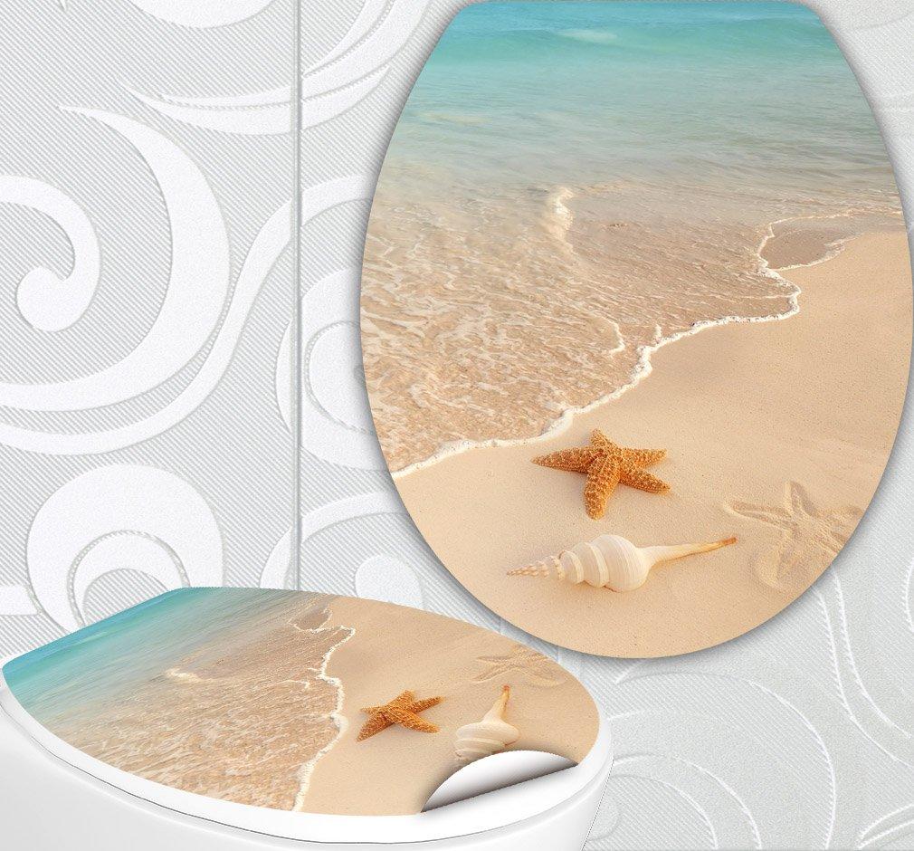 StickerProfis 'Sedile WC adesivi Stella di mare Design Schermo parete per WC stanza incl. 2adesivi per piastrelle
