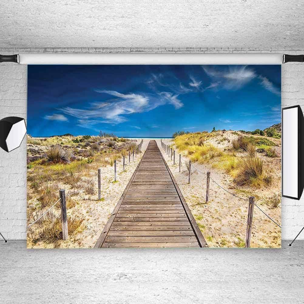 5x5FT Vinyl Backdrop Photographer,Beach,Idyllic Tranquil Shore Photo Backdrop Baby Newborn Photo Studio Props