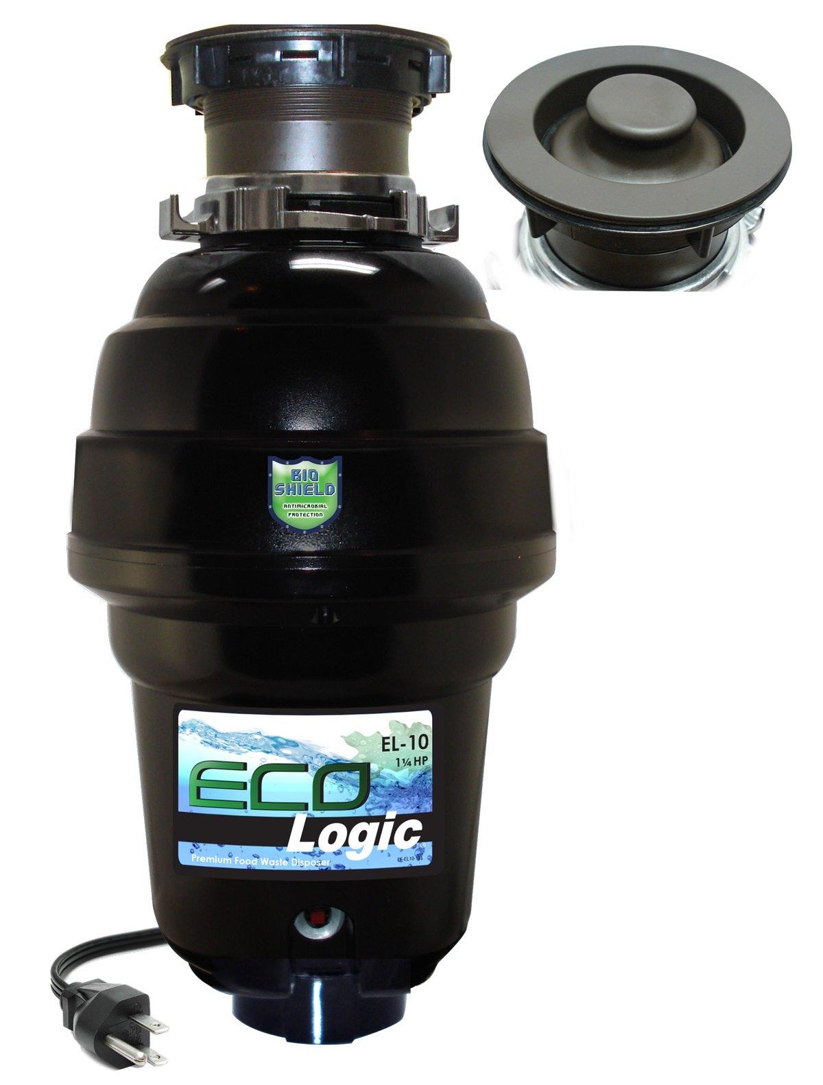 Eco Logic EL-10-DS-OR 10 Designer Series Food Waste Disposer with Oil Rubbed Bronze Sink Flange, 1-1/4 HP