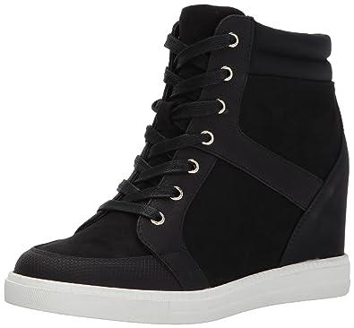 Qanna Fashion Sneaker, Black Nubuck