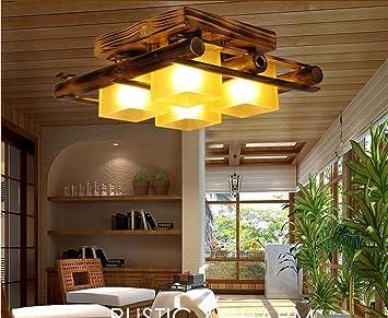 OYH Bombilla del techo en bambú retro , Originalidad ...