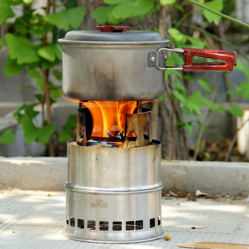 Amazon.com : docooler Portable Stainless Steel Lightweight Wood Stove  Solidified Alcohol Stove Outdoor Cooking Picnic BBQ Camping : Sports &  Outdoors - Amazon.com : Docooler Portable Stainless Steel Lightweight Wood