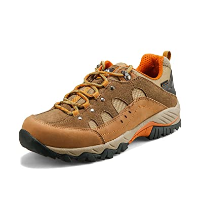 Hiking Boots For Mens Suede Leather Outdoor Waterproof Backpacking Shoes HKL815
