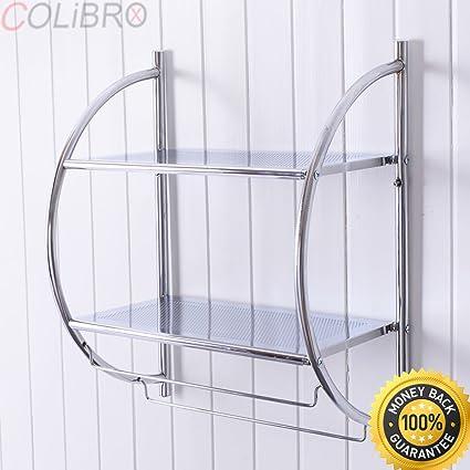 Amazon.com: COLIBROX--2 Tier Wall Mount Shower Organizer ...