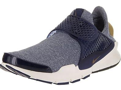 best service 97f77 05d99 Amazon.com   Nike Women s Sock Dart SE Midnight Navy Golden Beige Running  Shoe 8 Women US   Road Running