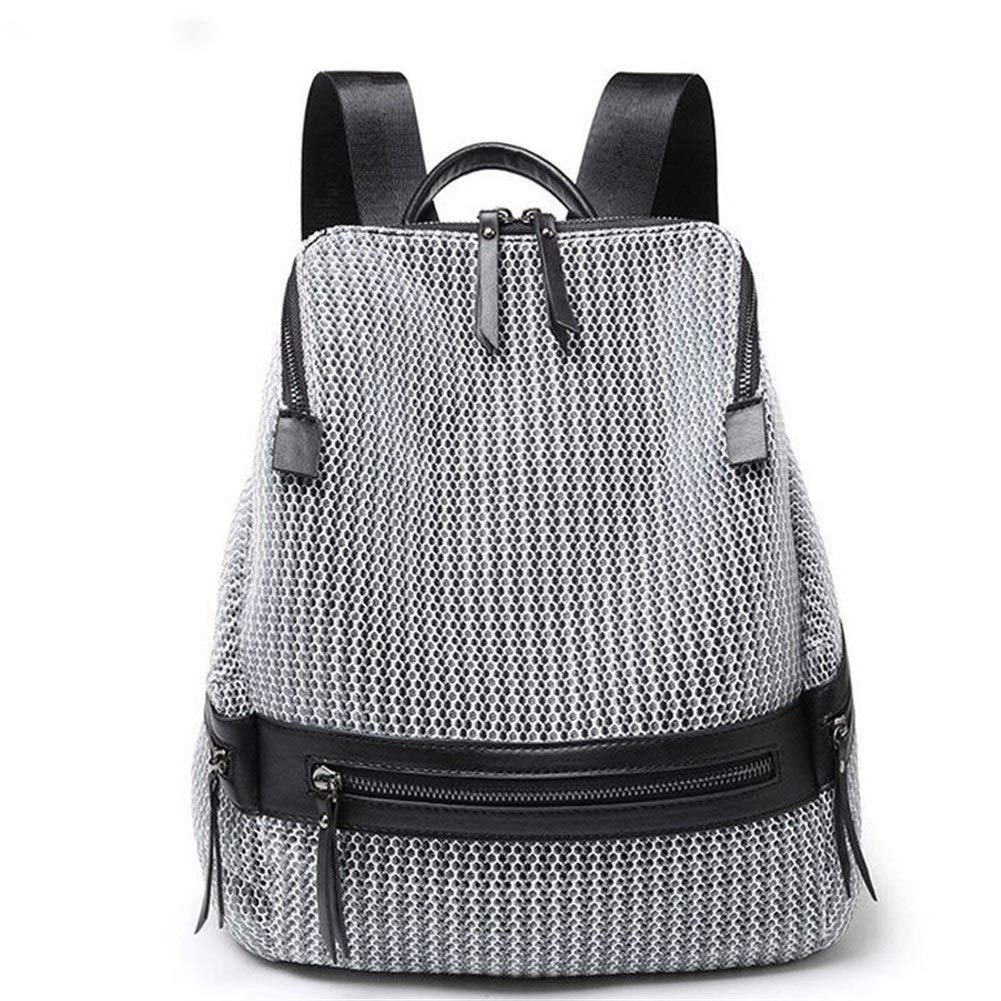ZYSTMCQZ favoritryggsäck kvinnor, mode rutnät resväska, skolväskor med stor kapacitet för tonårsflickor, väskor lyckligt arbete/resor/skola/gåva. (Färg: svart) Grått