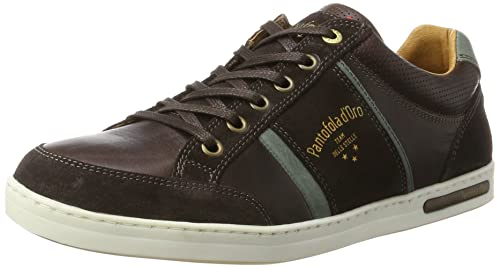 Mens Mondovi Uomo Low Trainers, Brown Pantofola D'oro