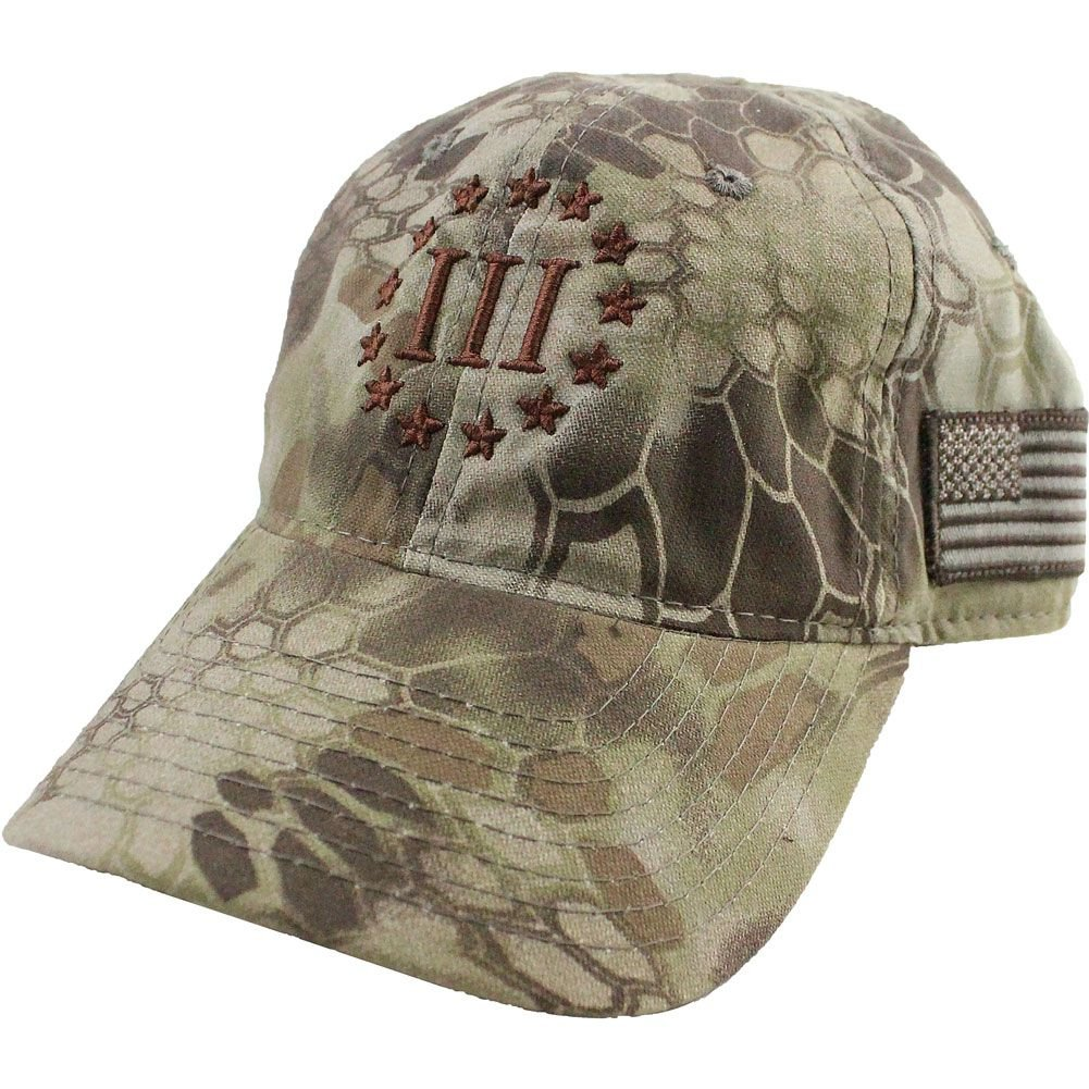 aefcb6903e1 Vintage Molon Labe 3 Percenter III Kryptek Cap (Black Typhoon) at Amazon  Men s Clothing store
